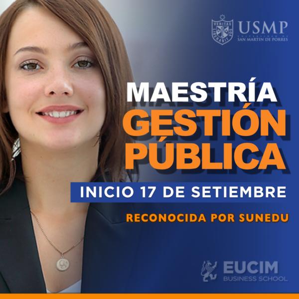 Maestría en Gestión Pública USMP - EUCIM
